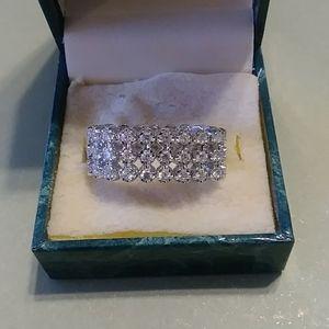 Cubic Zirconium Adjustable Ring